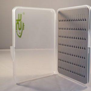 Slim line box-buzzer-nymphs-droge vliegen-vliegendoos-plat-opbergen-Slimline Buzzer Box Large-vliegvissen-vliegvisser-forel-witvis-venlo
