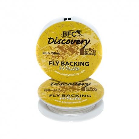 backing-50 mtr-vliegvisreel-vliegvislijn-rond gevlochten--wit-20 lbs-vliegvissen-venlo