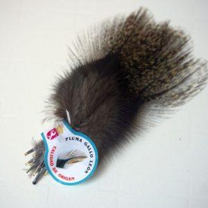 A kwaliteit-Chevron hackles-Coq de Leon small-Pardo-zadel-hoendersoort-spanje-leon-fibers-tails-wings-sedges-gespikkeld-nekharen-vliegbinden-venlo