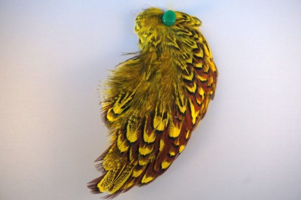 cock-pheasant-shoulder-patch-fluo-yellow-natte vliegen-chevron-vliegbinden-venlo
