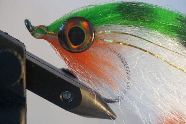 snoek streamers-set 6 stuks-roofvis-Fibers Dyckers-holografische ogen-roofvissen-vliegvissen-polders-rivieren-haakmaat 6/0-vangbare kleuren-vliegvisser-venlo