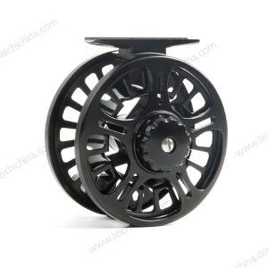 reel-aftma 5/6-black-157 gram-large arbor-1 kogellager-sterk-die cast-aluminium-vliegvissen-vliegvisser-forel-witvis-backing-voordelig-MCS reel-venlo