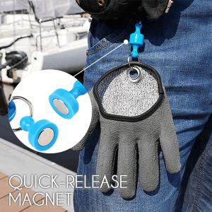 easy glove-roofvis-zeevis-roofvisser-zeevisser-beschermt-anti slip-eenvoudig-magneet-vis pakken-vliegvissen-vliegvisser-venlo