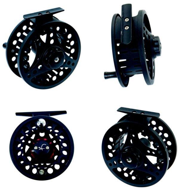 SC reel-large arbor-klasse 5/6-3 kogellagers-voordelig-disc drag-cnc aluminium-reservespoel-forel-witvis-vliegvissen-backing-secura reel-venlo