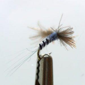 1000vliegen.nl-CDC Adams Biot Spinner-adams dry fly- adams droge vlieg-biot spinner-forel-vliegvissen-vliegvisser-rivier-reservoir-venlo