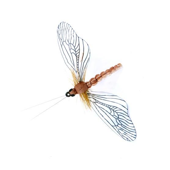 1000vliegen.nl-Caddisfly Spent Color Beige / Cinnamon-realistische vlieg-may fly- beige-bruin—caddis-spent-- forel-vliegvissen-tenkara-rivier-natuurgetrouw-vliegvisser-venlo