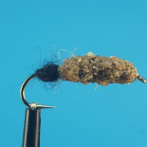 Cased Caddis natural-black 1000vliegen