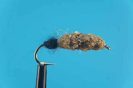 Cased Caddis natural-black 1000vliegen
