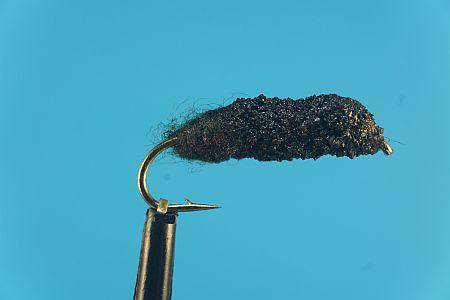 Cased Caddis olive-black 1000vliegen