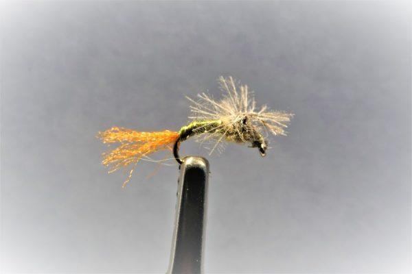 1000vliegen-vliegvissen-vliegvisser-forel-CDC-eend- meivlieg- emerger - CDC Budding Emerger-droge vlieg-WF lijn-vlagzalm-rivier-vijver-venlo