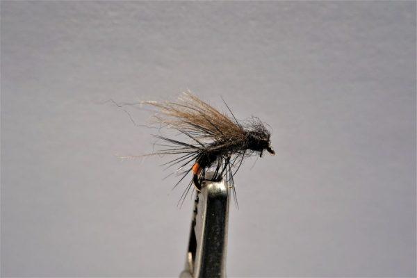 1000vliegen-vliegvissen-vliegvisser-forel-CDC-eend- emerger - CDC F&K Caddis -droge vlieg-WF lijn-vlagzalm-rivier-vijver-venlo