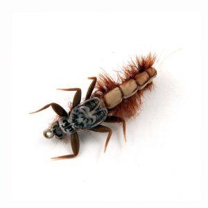 1000vliegen.nl-Mayfly Nymph Color Cream/Brown-realistic flies- realistische vlieg-may fly- beige-bruin—meivlieg- forel-vliegvissen-tenkara-rivier-natuurgetrouw-vliegvisser-venlo