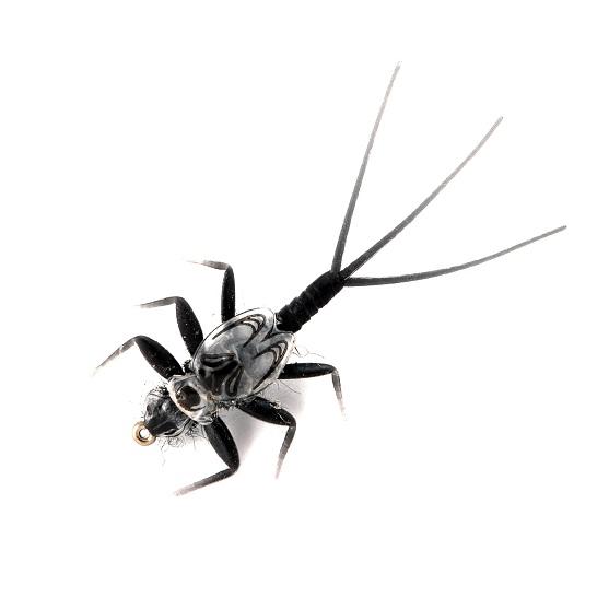 1000vliegen.nl-mayfly nymph-black-realistic flies- realistische vlieg-nymph- meivlieg-forel-vliegvissen-rivier-natuurgetrouw-vliegvisser-venlo