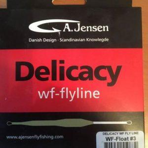 1000vliegen.nl-uitverkoop-a-jensen-delicacy-wf-3-flyline-no memory- WF float #3-vliegvissen-forel-voorn-vijver-rivier-witvis-droge vliegen-vliegvisser-venlo