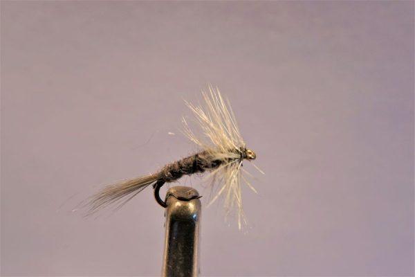 1000vliegen.nl-droge vlieg-Grey midge -forel-vlagzalm- dry fly-vliegvissen-rivier-vliegvisser-drijvend--venlo