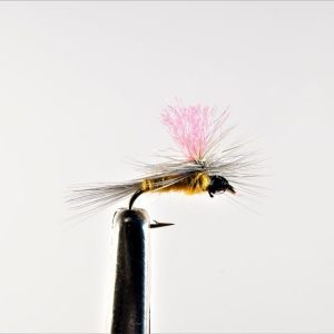 1000vliegen.nl, drijvend, droge vliegen, Indicator Parachute Suphur,,forel, venlo, vijver, river, vliegvissen, vliegvisser, vlagzalm, wf lijn