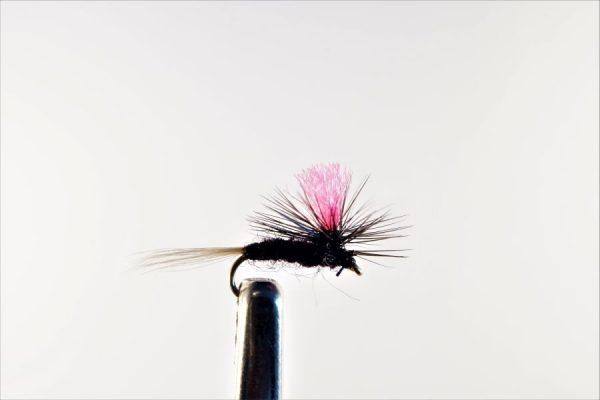1000vliegen.nl, drijvend, droge vliegen, Indicator Parachute Trico,,forel, venlo, vijver, river, vliegvissen, vliegvisser, vlagzalm, wf lijn
