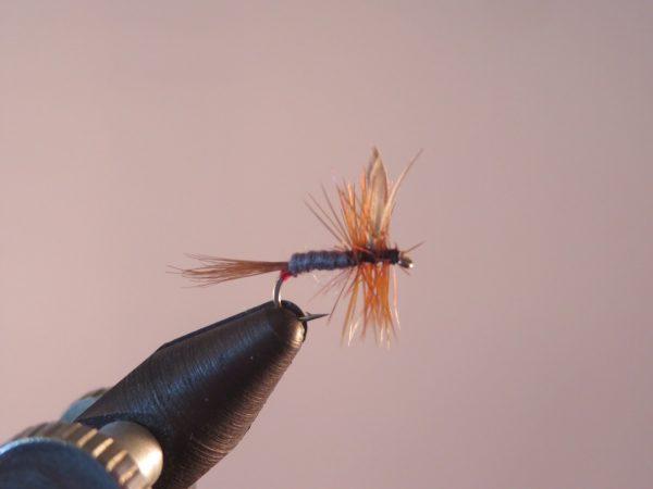 1000vliegen.nl-droge vlieg-Iron Blue Dun- vlieg-forel-vlagzalm-voorn- -dry fly-vliegvissen-rivier-vliegvisser-drijvend--venlo