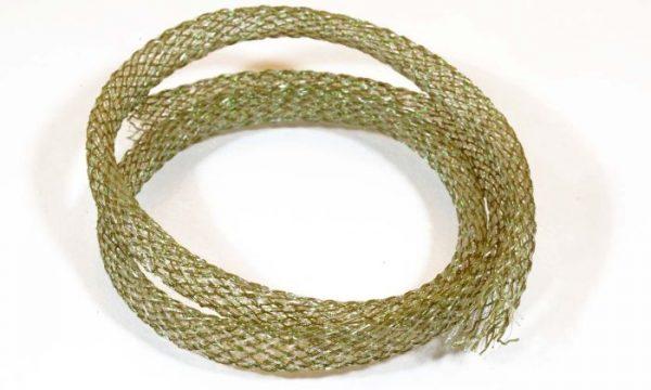 1000vliegen-nl-Flexi Braid Tubing Olive-Pearl -body-braid-zoutwater-vliegen-vliegbinden-zoutwater-streamers-roofvis-bindvice-vliegvissen-vliegvisser-venlo