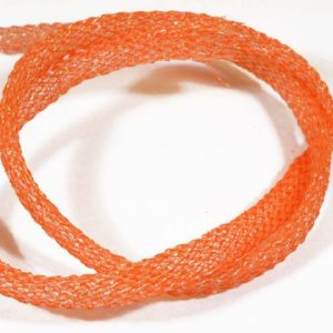 1000vliegen-nl-Flexi Braid Tubing Orange-Pearl -body-braid-zoutwater-vliegen-vliegbinden-zoutwater-streamers-roofvis-bindvice-vliegvissen-vliegvisser-venlo