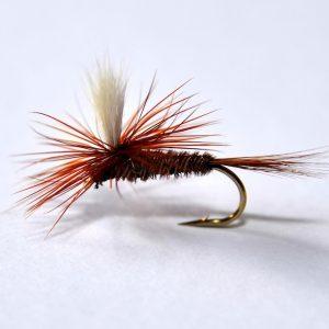 1000vliegen.nl-droge vlieg-PT Parachute -pheasant tail-fazantenstaart-forel-vlagzalm-voorn- -dry fly-vliegvissen-rivier-vliegvisser-drijvend--venlo
