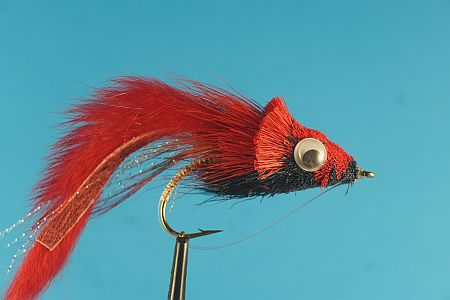 Threadfin Shad Red Black 1000vliegen