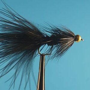 Woolly Bugger Bead Head Black 1000vliegen