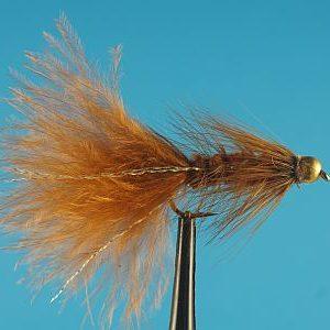 Woolly Bugger Bead Head Brown 1000vliegen