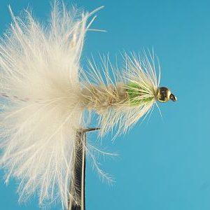 Woolly Bugger Bead Head White / Lime 1000vliegen