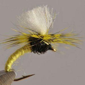 1000vliegen.nl-droge vlieg-klinkhammer – hans van klinken – emerger caddis-vlagzalm-forel-dry fly-vliegvissen-rivier-vliegvisser-drijvend--venlo