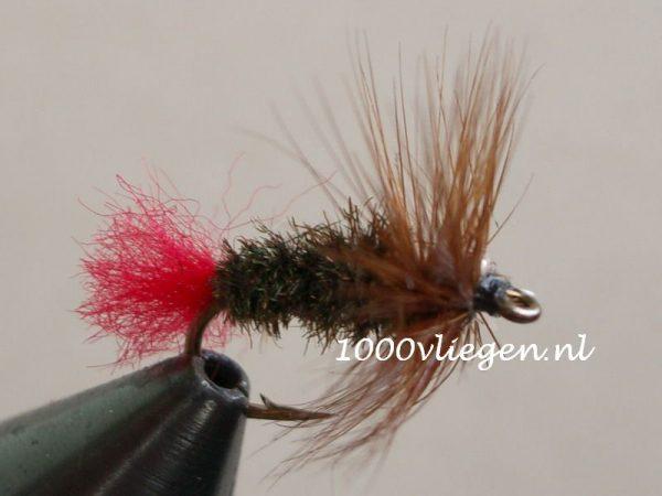 1000vliegen.nl-droge vlieg-red tag -voorn - winde -vlagzalm-forel-dry fly-vliegvissen-rivier-vliegvisser-drijvend--venlo