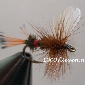 1000vliegen.nl-droge vlieg-royal coachman -forel-vlagzalm- dry fly-vliegvissen-rivier-vliegvisser-drijvend--venlo