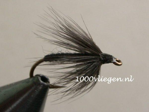 1000vliegen.nl-natte vlieg- Black Spider- dead drift-intermediate lijn-floating lijn-vliegvissen-vliegvisser-wet fly-forel-vlagzalm-winde-venlo