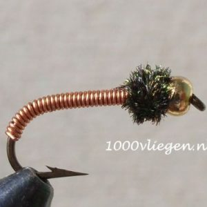 1000vliegen.nl,nymphen, Brassie peacock BH, venlo, , voorn, witvis, beekjes, polder, forel, baars, forel,,river,beetverklikker,vliegvissen, vliegvisser, , wf lijn