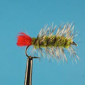 Woolly Worm Olive 1000vliegen