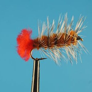 Woolly Worm Brown 1000vliegen