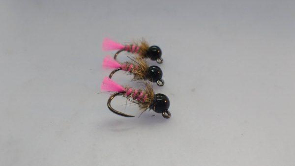 1000vliegen.nl-Glo Bright Fluo Pink JIG- JIG-Jig nymph, tungsten-bodem, Joe Russel, Fasna F420, forel ,vlagzalm, baars-,roofvis, forellenput, venlo-vliegvissen, vliegvisser, rivier, reservoir, wf lijn, leader,