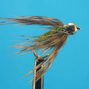 Caddis Pupa Olive 1000vliegen.nl