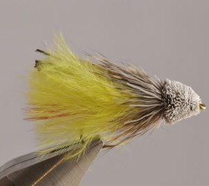 1000vliegen.nl, Yellow Marabou Mudler, mudler,roofvis, baars, snoek, roofblei forel, regenboogforel,, venlo, vijver, river, polder,vliegvissen, vliegvisser, vlagzalm, wf lijn