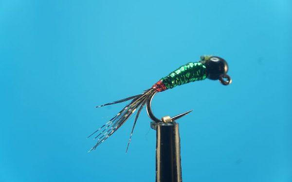 Perdigon Red-Green-Black JIG 1000vliegen.nl