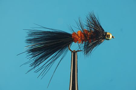 WoollyBugger BH Orange/Black 1000vliegen.nl